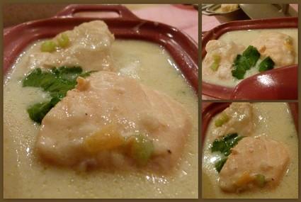 Recette de blanquette de saumon à la vanille