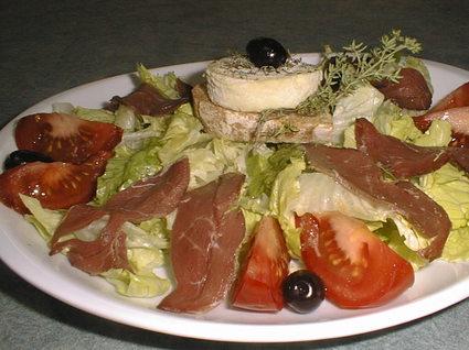 Recette de salade au chèvre et magrets
