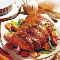 Recette rôti de veau aux carottes et pois gourmands – toutes les ...