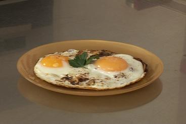 Recette de oeuf au plat aux champignons facile et rapide