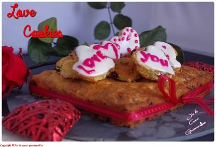 Recette de cookies cerise, chocolat blanc, citron, gingembre