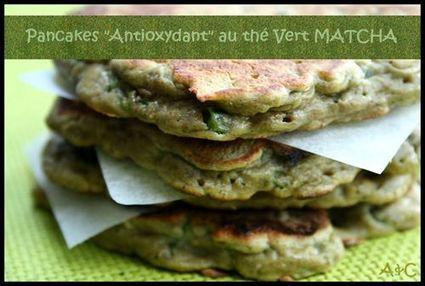 Recette de pancakes petits pois, thé vert, noix de cajou