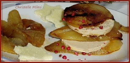 Recette de millefeuilles de foie gras et poires
