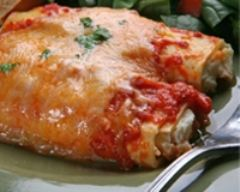 Recette pâtes farcies de fromage avec sauce crémeuse aux tomates
