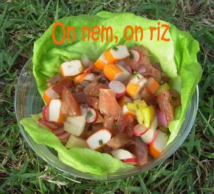 Recette de salade fraîcheur colorée