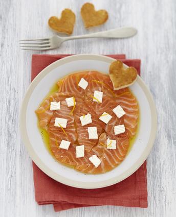 Recette de carpaccio saumon au caprice des dieux à l'orange