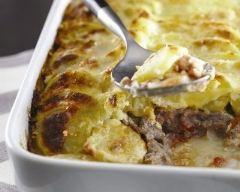 Recette gratin de pommes de terre, veau et parmesan
