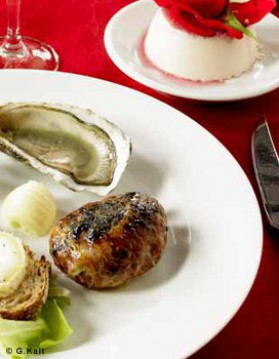 Huîtres et crépinettes pour 6 personnes