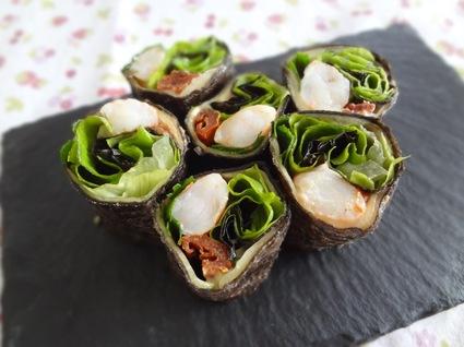 Recette de maki de crevettes aux légumes