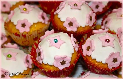Recette de cupcake vanille pate à sucre