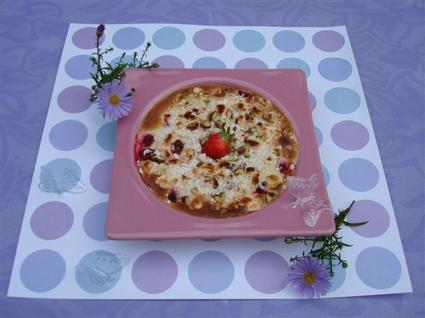 Recette de sabayon meringué aux fruits rouges et à la violette