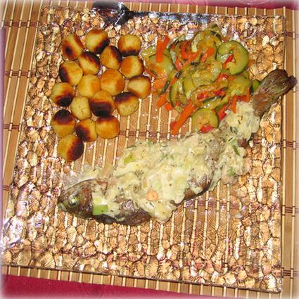 Recette de truite saumonée et sa fondue de poireaux