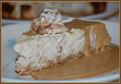 Recette de cheesecake aux noix, sauce moka