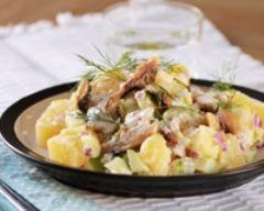 Recette salade nordique de sardines aux deux pommes