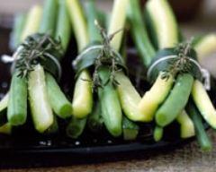 Recette fagots de haricots verts et courgettes