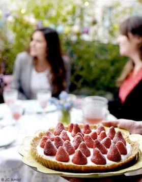 Tarte aux fraises sans cuisson pour 6 personnes