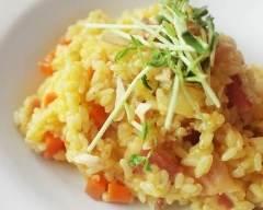 Recette risotto de poulet aux carottes à ma façon