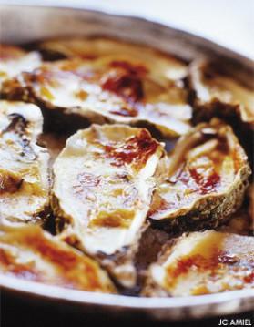 Huîtres chaudes gratinées au camembert d'isigny pour 4 personnes ...