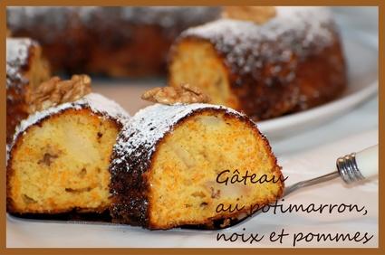 Recette de gâteau au potimarron, noix et pommes