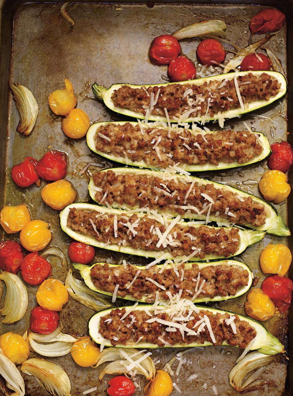 Courgettes farcies au veau et au parmesan | ricardo