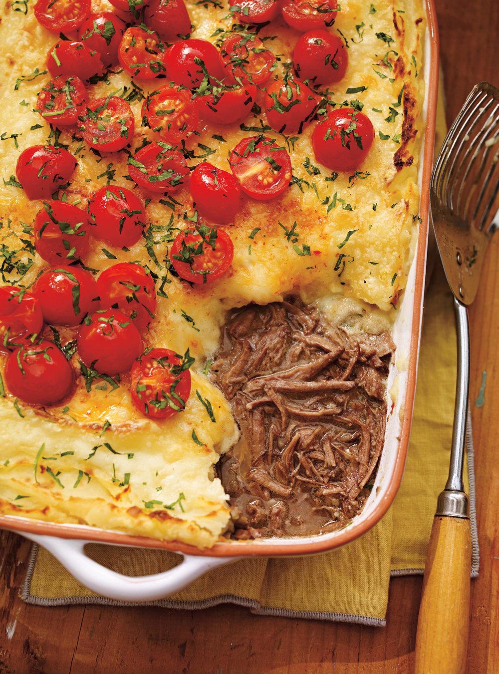 Parmentier au boeuf braisé et au fromage oka | ricardo