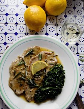 Escalopes de veau, citron-romarin pour 4 personnes