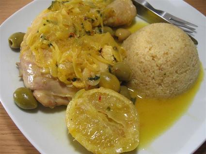 Recette de poulet aux olives et citrons confits