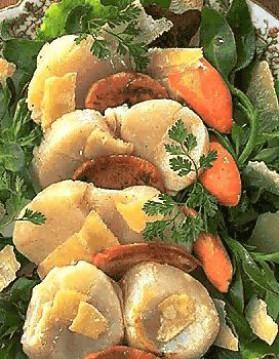 Noix de saint-jacques au parmesan et au foie gras pour 4 ...