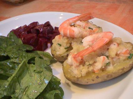 Recette de pommes de terre farcies aux crevettes