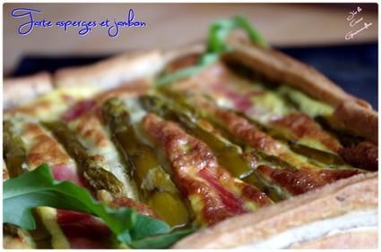 Recette de tarte aux asperges et au jambon