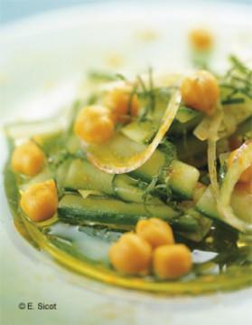 Salade de pois chiches au concombre et au curcuma pour 4 ...