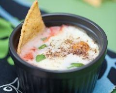 Recette oeufs cocotte à la tomate et mozzarella