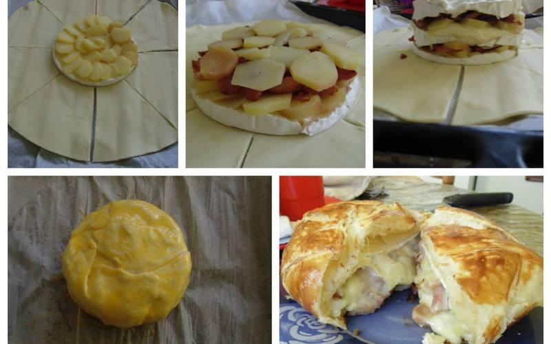 Sur la recette feuilleté au camembert, lardons et pommes de terre