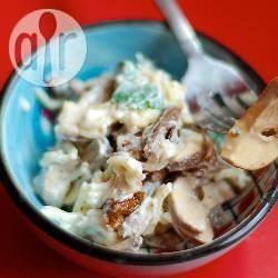 Recette salade aux cœurs de poulet et aux champignons – toutes ...