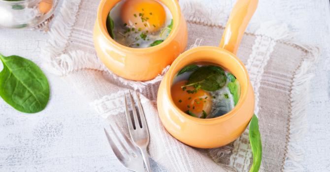 Recette de œuf cocotte ricotta et épinards