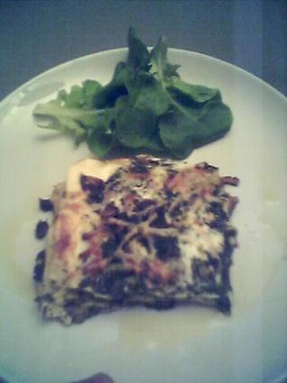 Recette de lasagnes aux cèpes et aux épinards