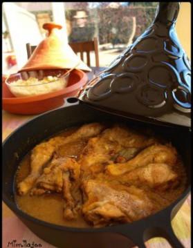 Tajine de poulet au confit d'oignons pour 4 personnes