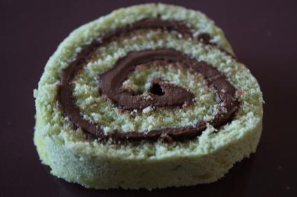 Recette de gâteau roulé pistache nutella