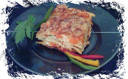 Recette de lasagnes au saumon et aux poivrons