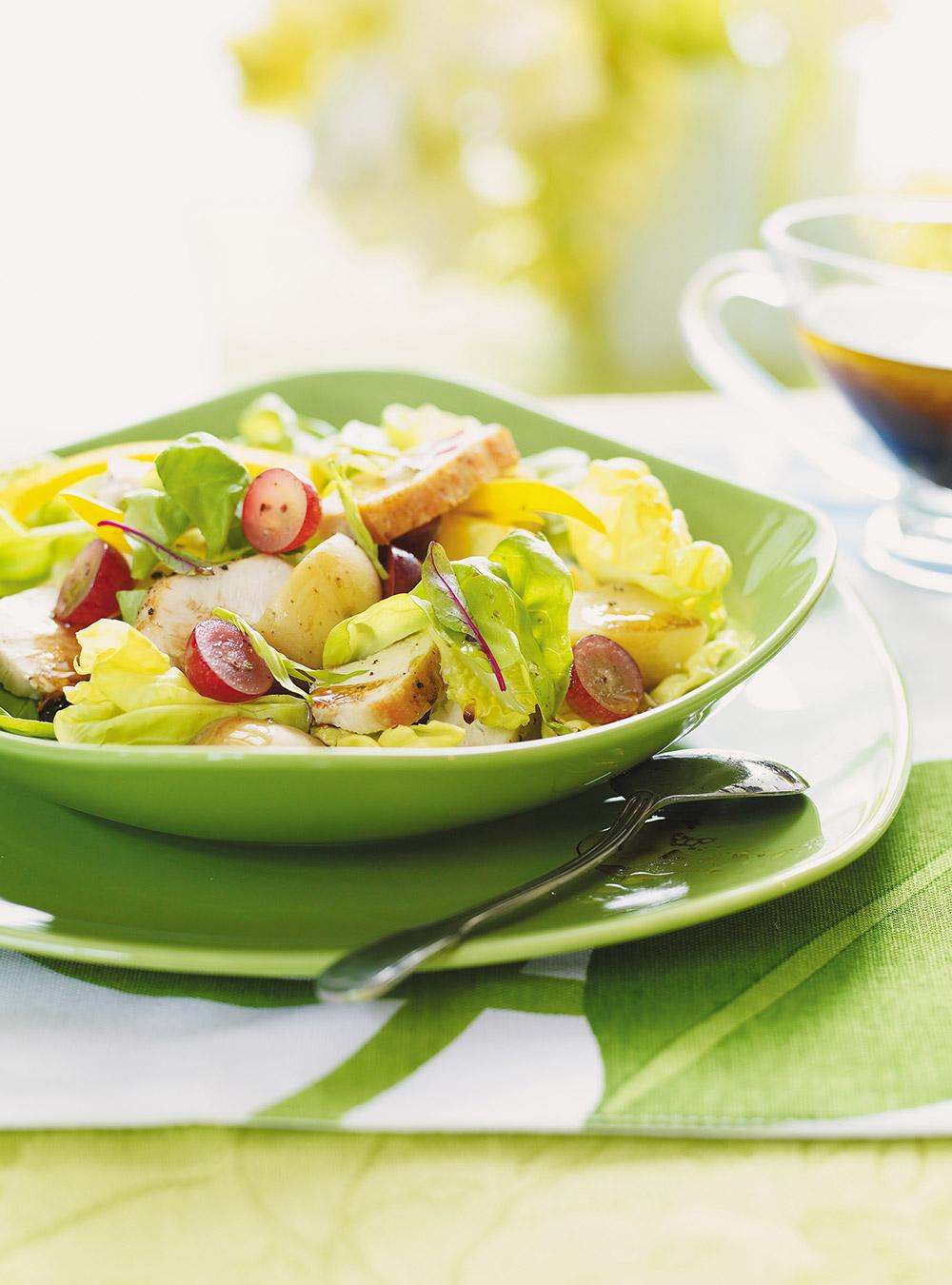 Salade de poulet, de pommes de terre et de raisins | ricardo