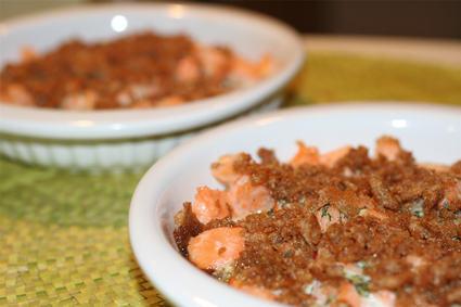 Recette de crumble au saumon