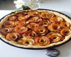 Recette tarte aux pommes bouquet de rose