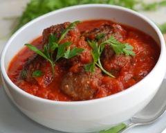 Recette boulettes de boeuf haché à la sauce tomate