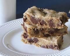Recette brownies au chocolat blanc et pépites de chocolat noir