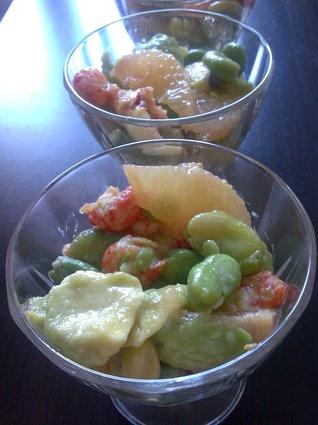 Recette de salade de fèves rafraîchissante