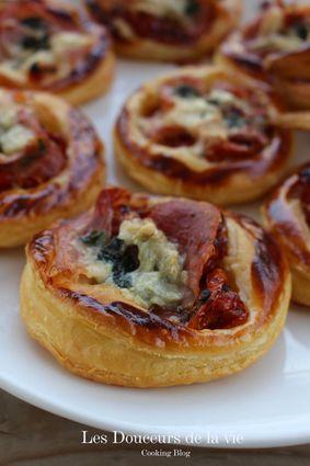 Recette de tartes fines à l'italienne au jambon et gorgonzola