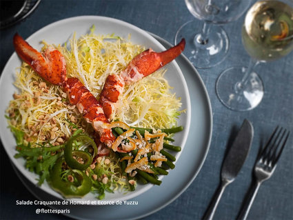 Recette de salade craquante de homard et écorce de yuzzu