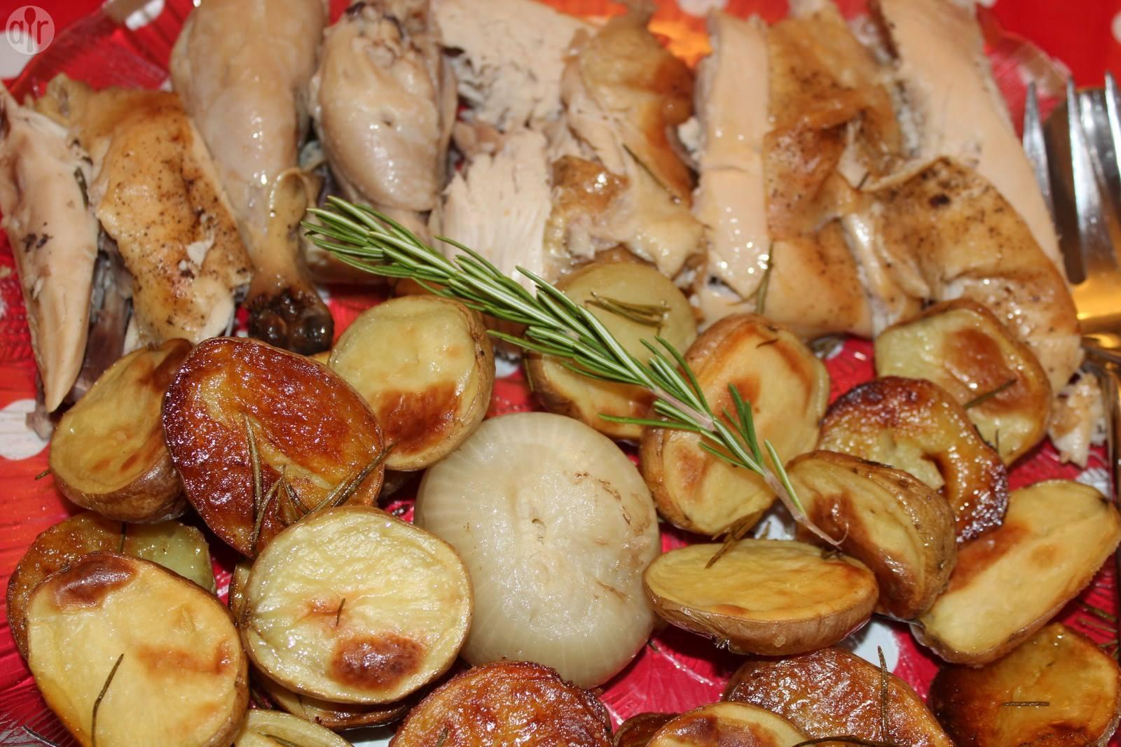 Recette poulet et pommes de terre rôtis au romarin – toutes les ...