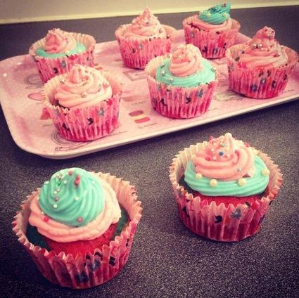 Recette de cupcakes rainbow