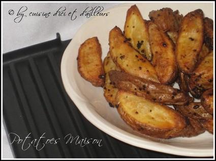 Recette de potatoes maison cuites au four